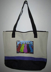 Las Comadres canvas bag